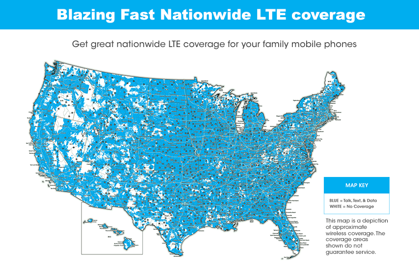 Free Family Plan Coverage Map